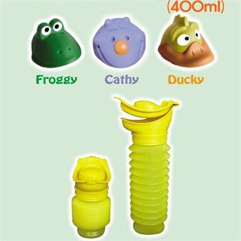 拉芘兔新品车载便携式小便桶男女孩通用宝宝儿童尿桶接尿壶 小便筒