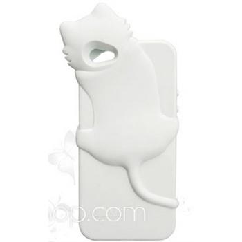 kiki 苹果 iphone 5 韩国原版授权 可爱趴猫软胶 手机