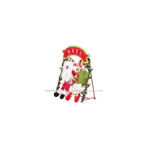 超可爱情侣坐姿圣诞老人雪人荡秋千圣诞礼品圣诞礼圣诞公仔