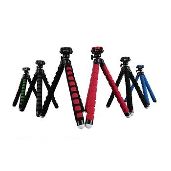 富图宝rm-100手机相机自行车便携百变八爪鱼章鱼三脚架支架自拍架