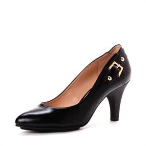 Daphne 达芙妮 13年春优雅皮金属配饰高跟单鞋 1013101027
