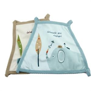 哆啦小贝大象竹纤维绑带小肚兜 宝宝小肚兜婴儿护脐肚兜 两个装