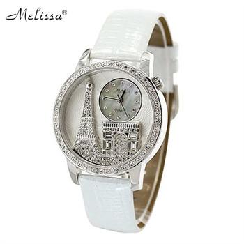 璀璨水晶埃菲尔铁塔女士手表