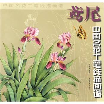 中国名花工笔线描图谱 鸢尾