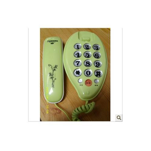 泰威电话机046水滴形迷你小分机壁挂电话铃音大小可调节 zlx