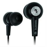 kanen/卡能KM-93笔记本台式电脑耳机入耳式耳麦带麦克话筒语音2米 送耳机线夹