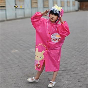 儿童卡通带书包位雨衣