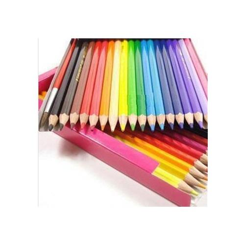 彩色素描铅笔套装12 24 36色纸盒彩铅 初学者*