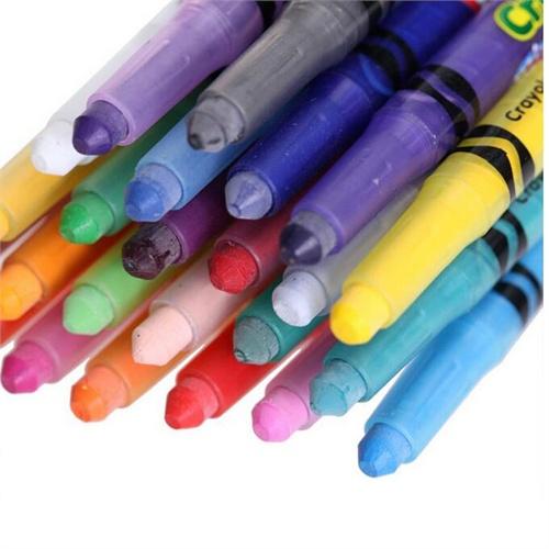 儿童蜡笔抽象画