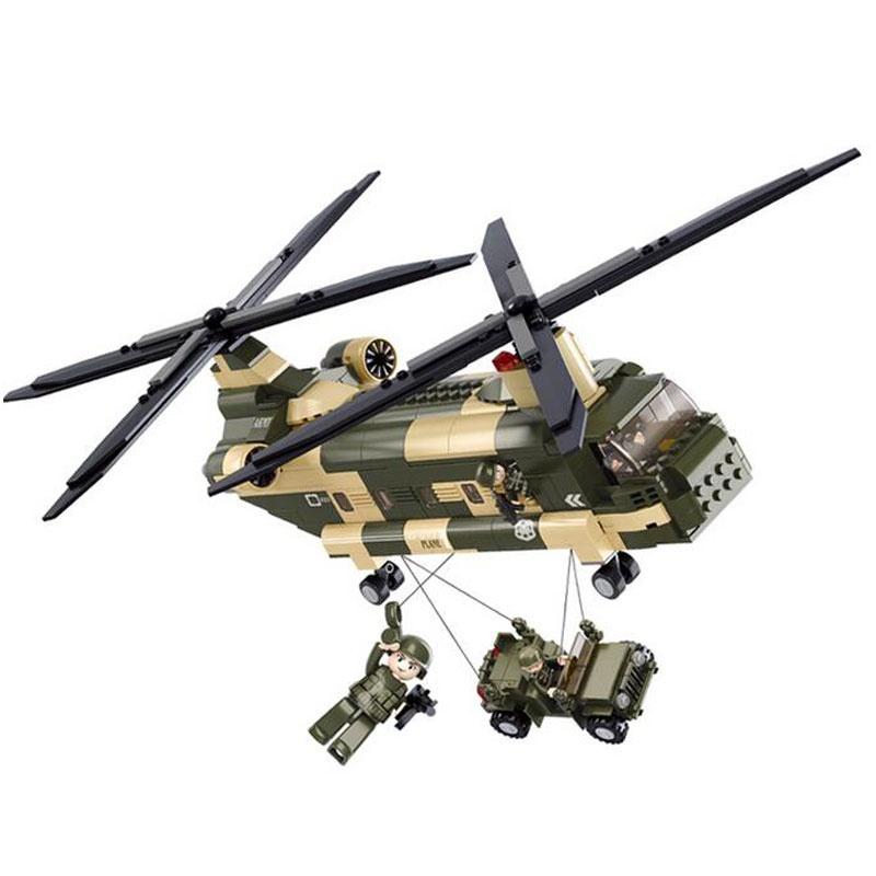 新款 小鲁班益智拼装积木儿童启蒙首选玩具 军事运输机m38-b0508_0508