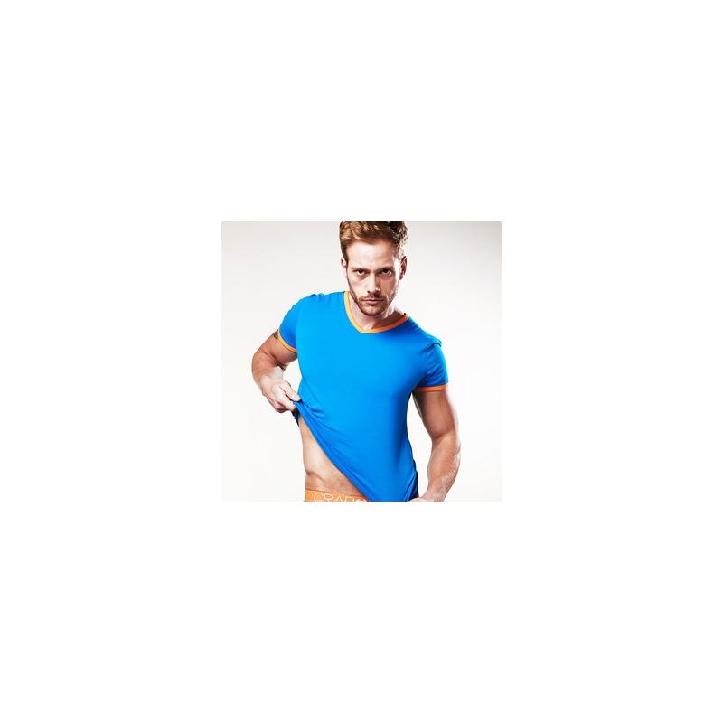 男打底内衣 纯棉修身时尚舒适男士t恤 限时折扣 满149立减10_橙边蓝底