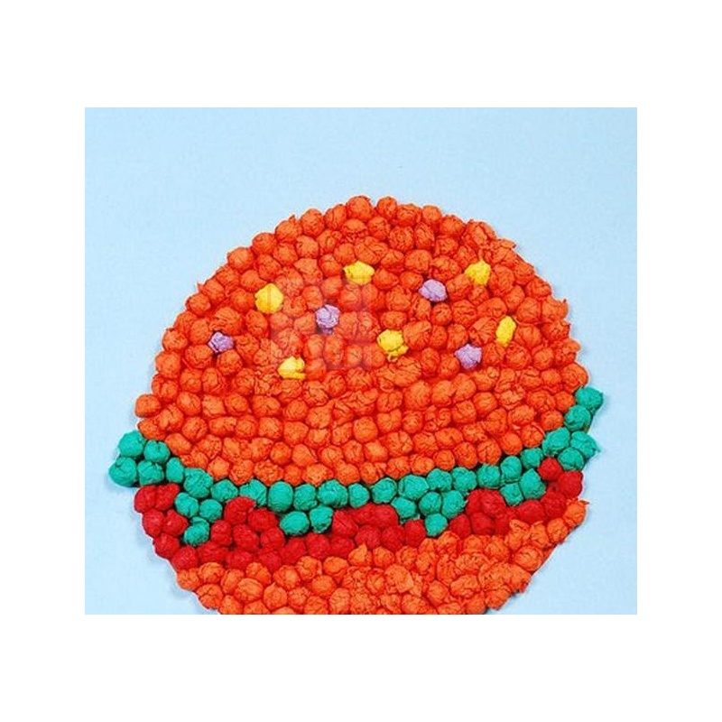 儿童搓纸粘贴画 创意diy玩具揉纸画 幼儿园手工制作材料 汉堡