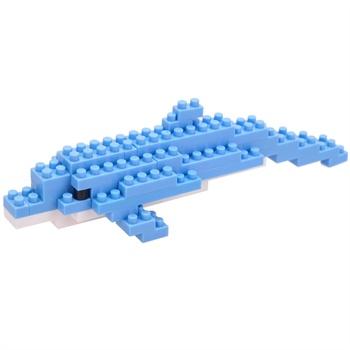 海豚水晶积木拼图步骤图解