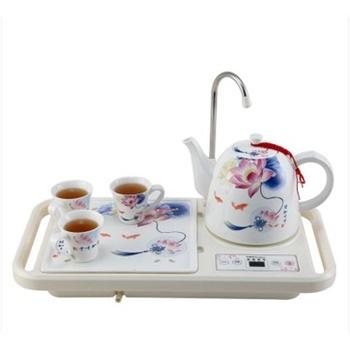 陶瓷电热水壶自动上水抽水泡茶电水壶新品上市