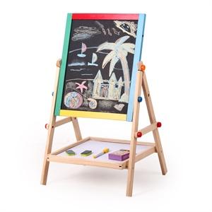 小皇帝 多功能双面小黑板儿童写字板木制涂鸦画画板xhd9205