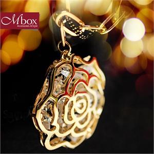 【品牌直供】【Mbox】韩国多层时尚复古玫瑰花朵项链 新娘配饰