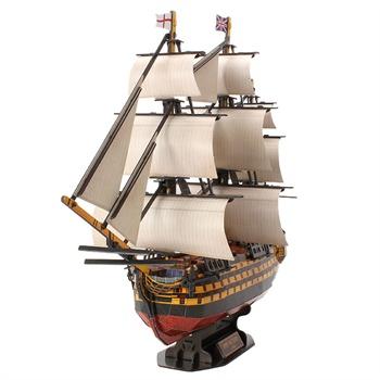 正版乐立方3d立体拼图拼装纸模型皇家胜利号船模帆船