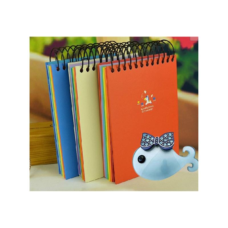 hj本册/便签 >  好吉森鹤a6彩色线圈本子可爱螺旋日记本单线格笔记本