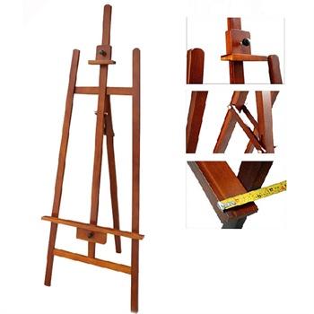 厂家胡桃色油画架子木质画板广告展架