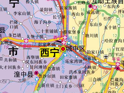 1:130万青海省地图