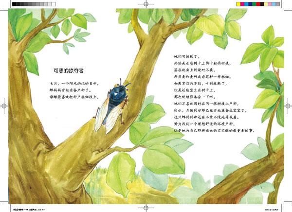 法布尔昆虫记1 用生命去歌唱 蝉 彩绘版,语文新课标必读,跨越三个世纪的传世经典,全世界青少年成长必读书 国内顶级动漫名家倾力打造