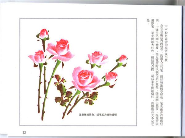 月季花画法 月季花画法步骤