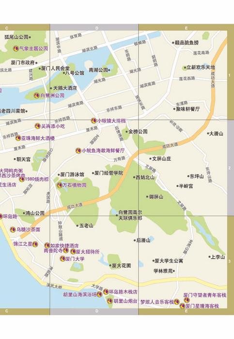 鼓浪屿分区地图