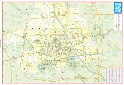 许昌city城市地图(中国三国文化之乡,曹魏故都·宜居花城,许昌景区