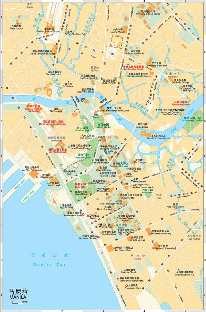 世界分国地图亚洲·菲律宾