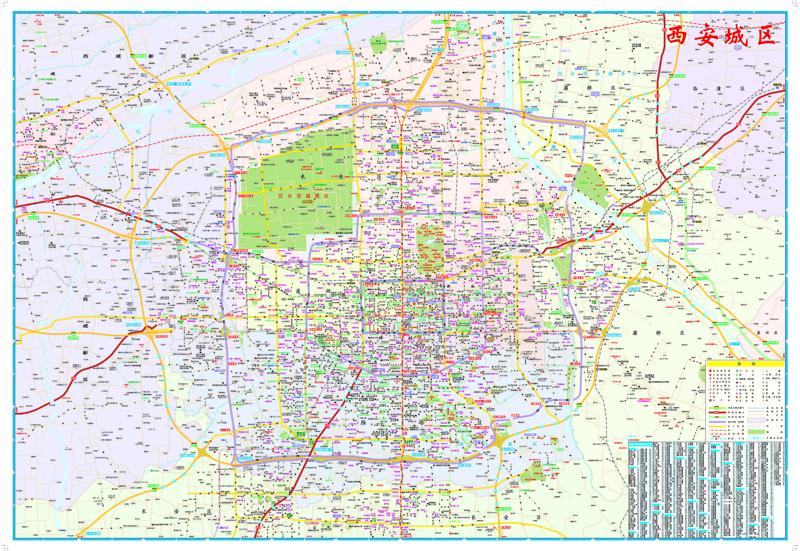 西安city城市地图 本社