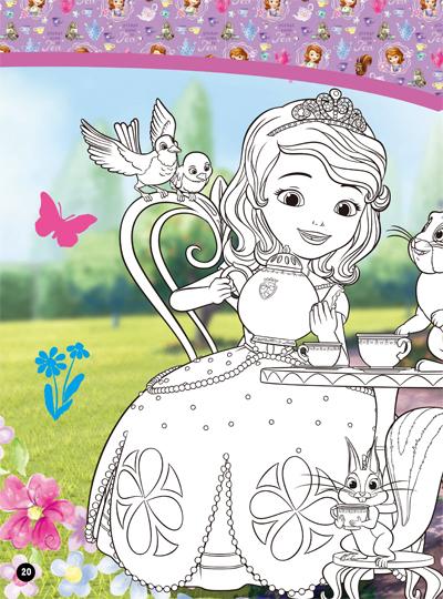 小公主苏菲亚填颜色小游戏 国语版 蝴蝶公主 两个苏菲亚 小公主苏菲亚图片