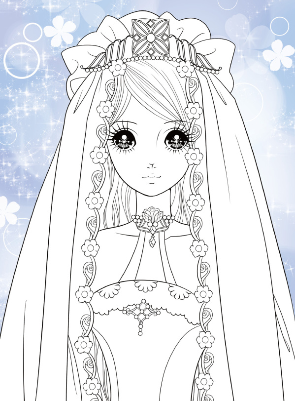 《小公主玩美涂画:炫彩公主图片