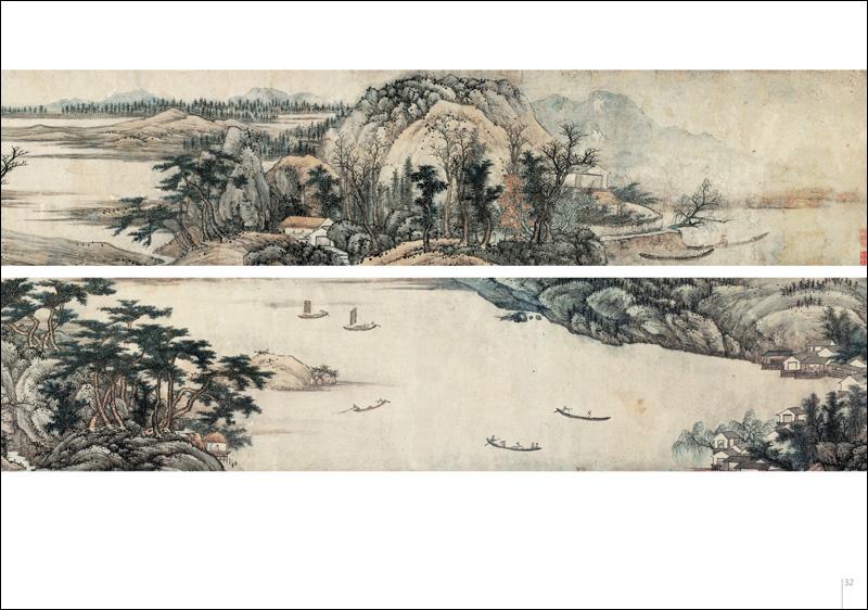 名画再现:清代山水画长卷图片