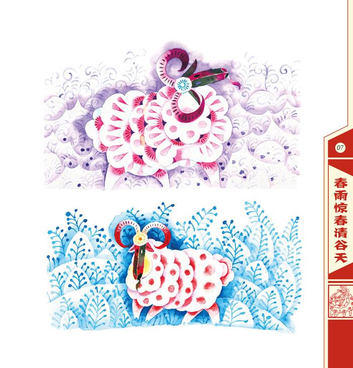 创意儿童画:三阳开泰