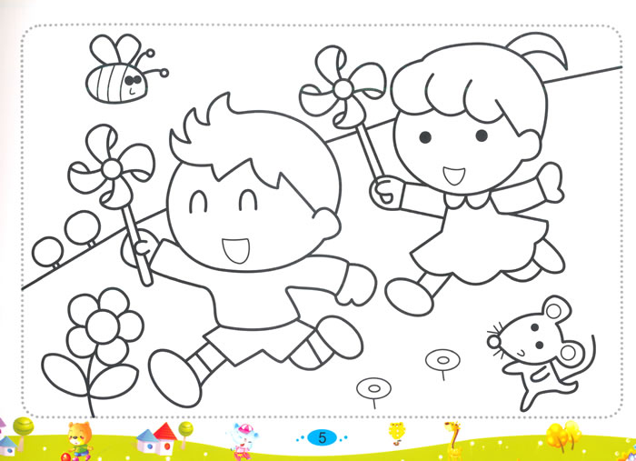 可爱小象简单笔画