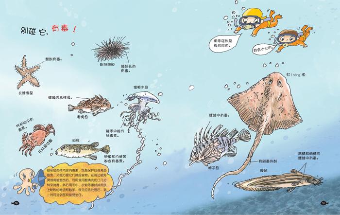 海鲜插画矢量图