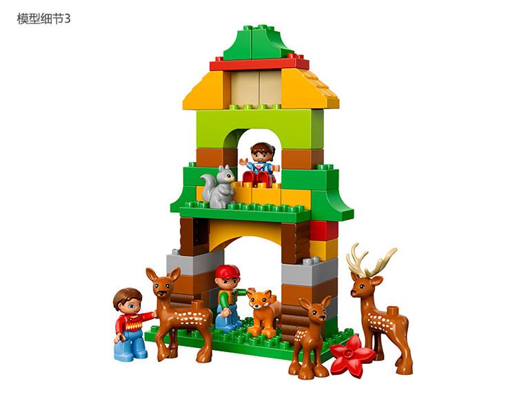lego乐高duplo得宝系列公园儿童:野生积木森林拼插积木益智玩具用主题搭厦门车怎样的图片
