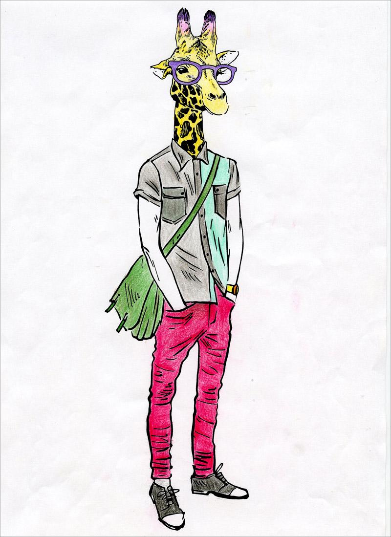 时尚动物:唯美经典涂色书,畅销英美风靡全球,舒缓压力,激活潜在艺术