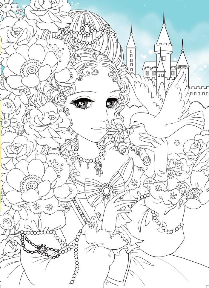 美少女涂色--梦幻新娘