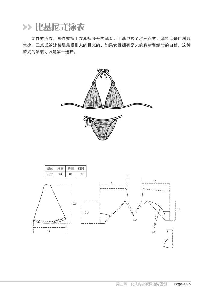 二,量体的注意事项  三,内衣尺码规格表  四,胸罩纸样放缩的尺寸依据