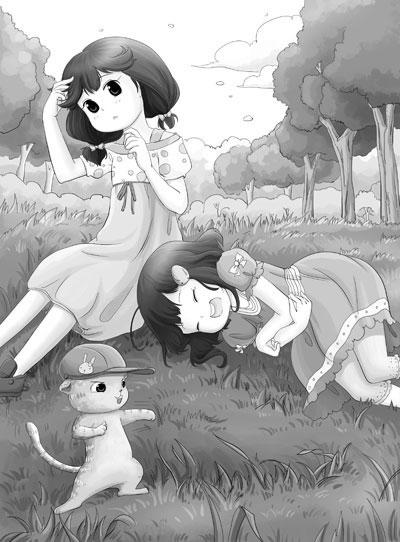 卡通图片大全可爱女生