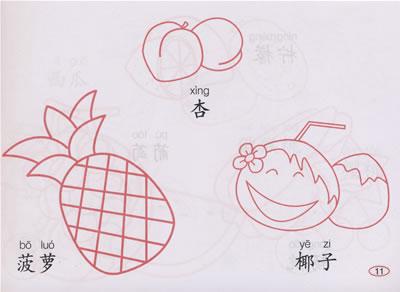 卡通水果 简笔画