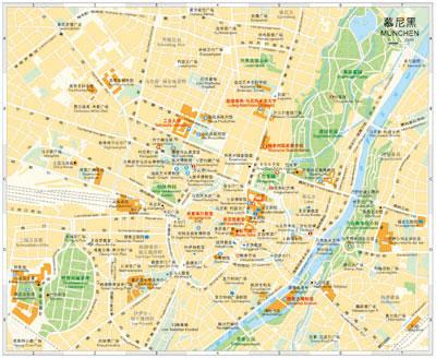 中英文双语德国大比例尺地图