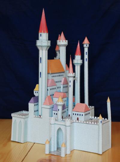 迪士尼公主全真立体城堡手工书 (套装全四册)