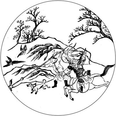 曼陀罗华手绘图
