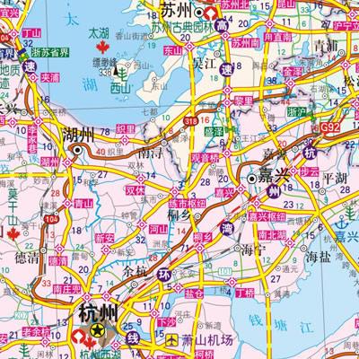 中国区域交通旅游详图上海