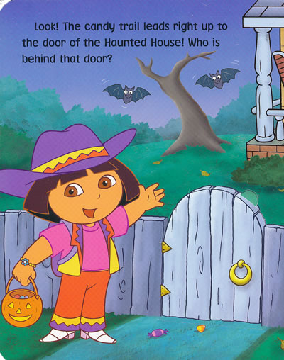 dora's halloween adventure 朵拉历险记:朵拉的万圣节冒险(卡板书)