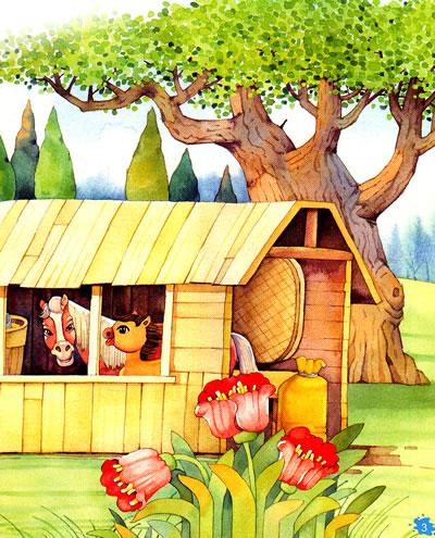 儿童故事插图彩铅