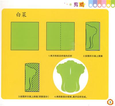 剪纸松树叶图案步骤
