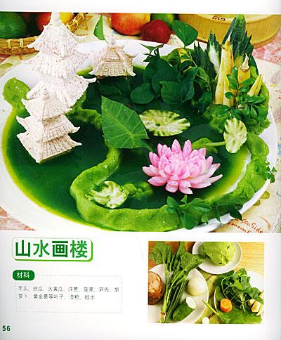 厨师莲花雕刻图案